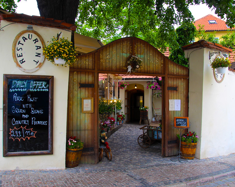 Prague, Czech Republic, Rustic Restaurant