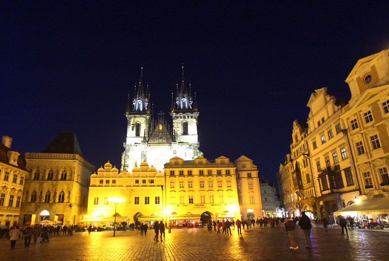 Prague, Czech Republic, Old Town Square, Night View on Old Town Square
