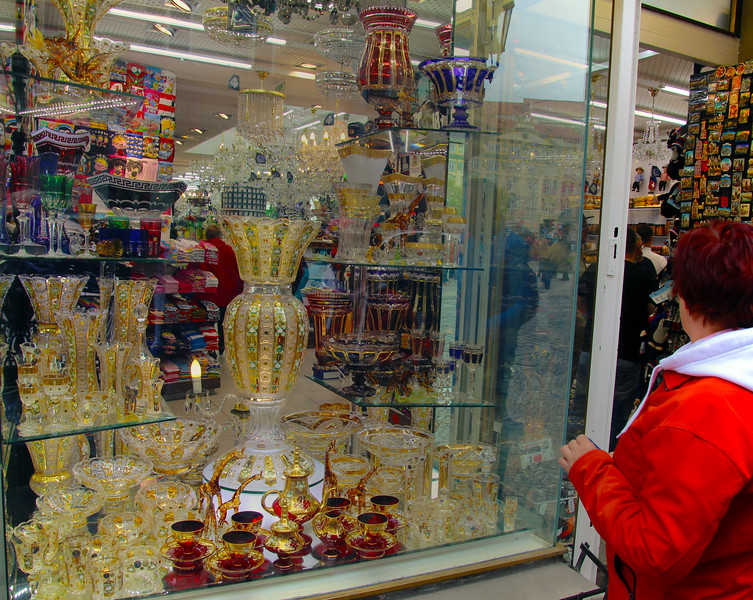 Prague, Czech Republic, Decorative Glass Store