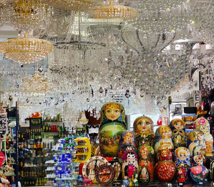 Prague, Czech Republic, Doll & Crystal Store