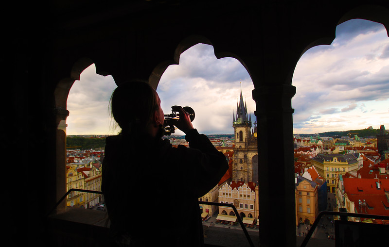 Prague, Czech Republic, City View from Old Town Hall