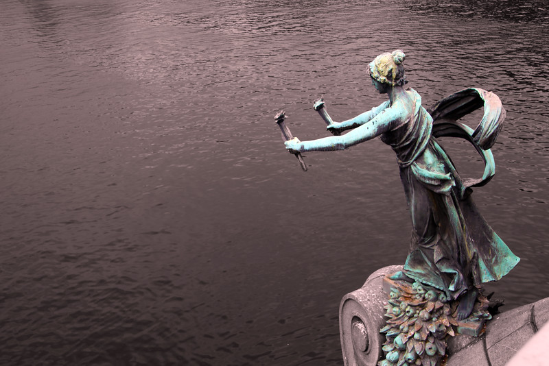 Prague, Czech Republic, Statue Over Charles Bridge