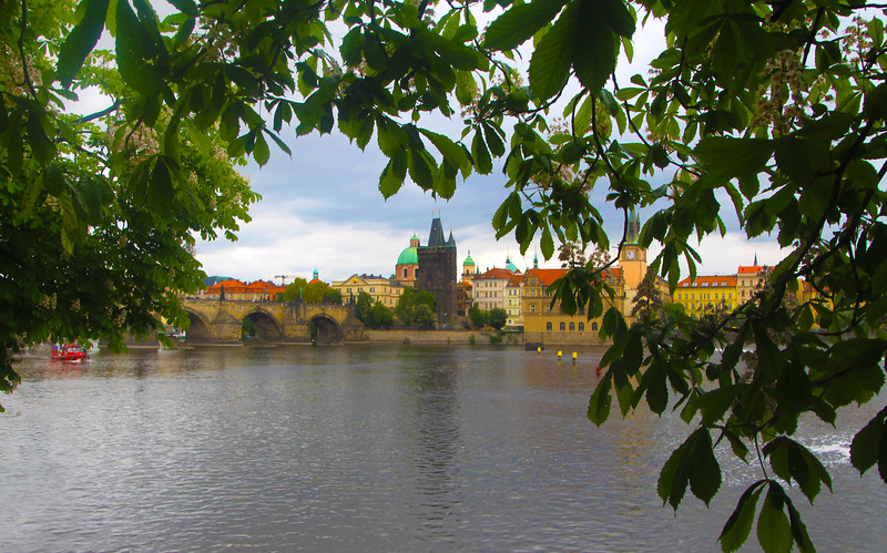 Prague, Czech Republic, View on Charles Bridge