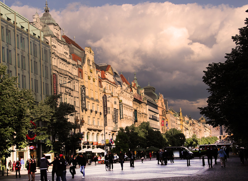 Prague, Czech Republic, Shopping Promenade Color