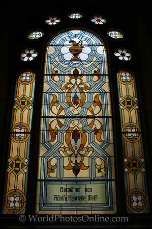 Prague - Jerusalem Synagogue - Stain Glass 2