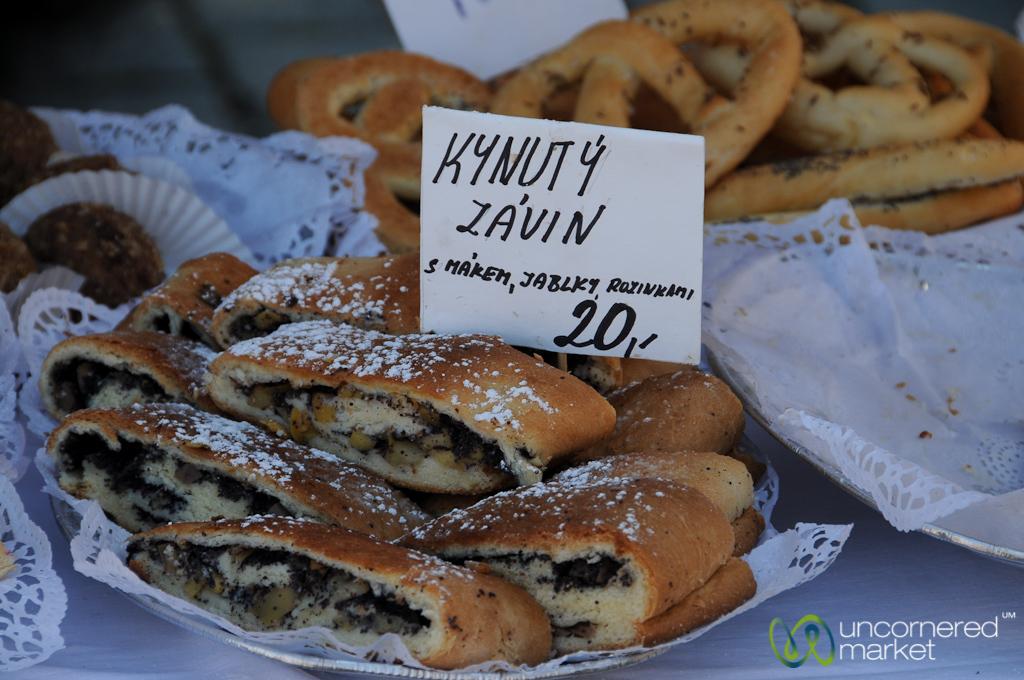 Czech Desserts at the Farmer's Market - Prague, Czech Republic