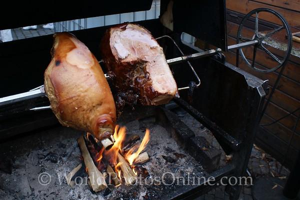 Prague - Wenceslas Square - Taste of Czech Republic Festival - Roasting Meat