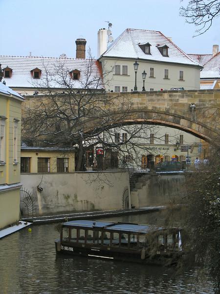canal and Charles Bridge