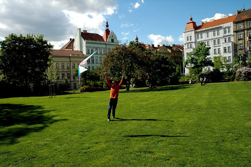 Kite Flying - Vrsovice, Prague