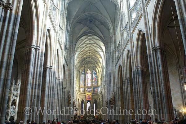 Prague - Prague Castle - St Vitus Cathedral - Nave 1