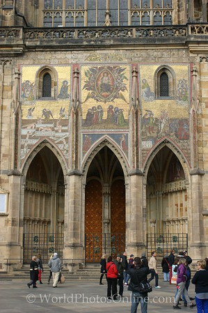 Prague - Prague Castle - St Vitus Cathedral - Imperial Doors