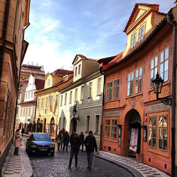 Around the bend: A glimpse of Prague's frosted cake Old Town
