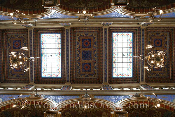 Prague - Jerusalem Synagogue - Ceiling