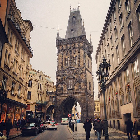 Powder Tower, Prague's gate of the Middle Ages #moody