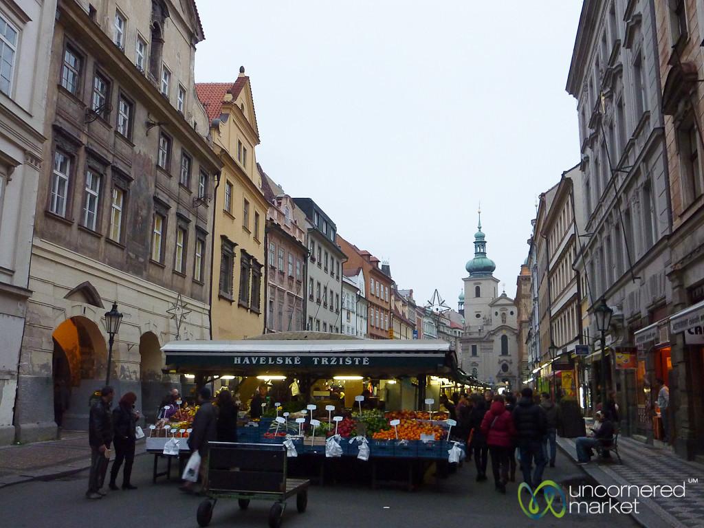 Havelske Market in Prague's Old Town - Czech Republic