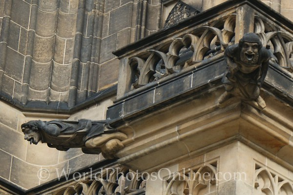 Prague - Prague Castle - St Vitus Cathedral - Gargoyles