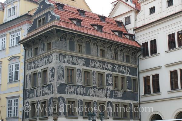 Prague - Old Town Square - Casa del Minuto - (Renaissance house)