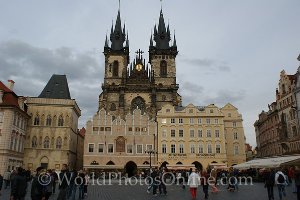 Prague - Old Town Square - Tyn Cathedral