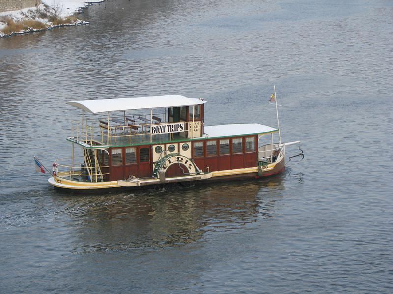 boat from Charles Bridge