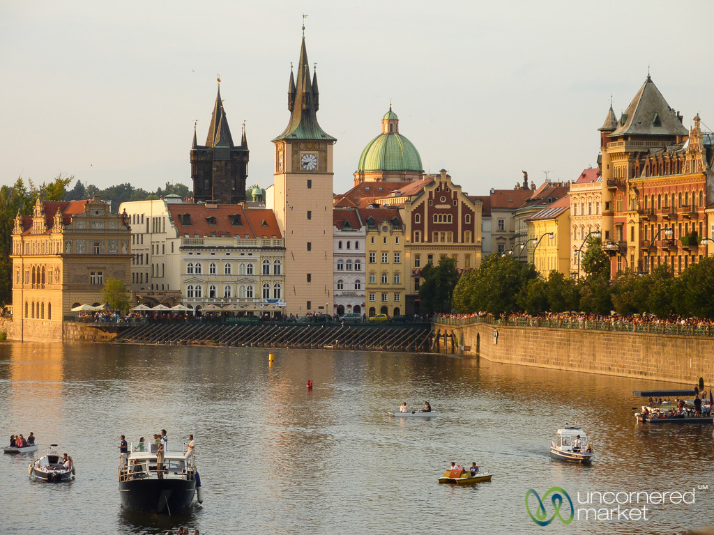 View of Prague's Old Town at Dusk