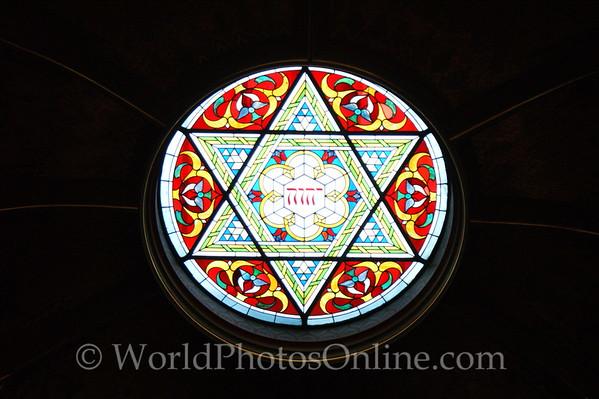 Prague - Jerusalem Synagogue - Stain Glass 1