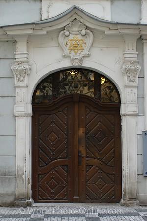 Prague - Jewish Quarter- Town Hall Door