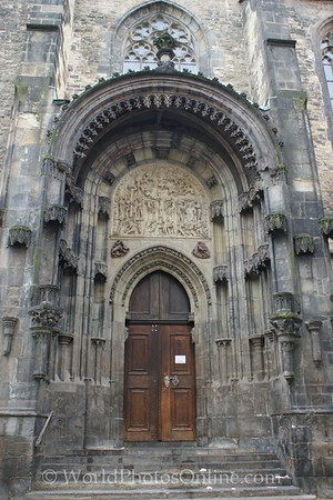 Prague - Old Town Square - Tyn Cathedral - Door