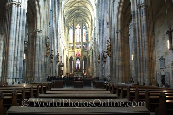 Prague - Prague Castle - St Vitus Cathedral - Nave 2
