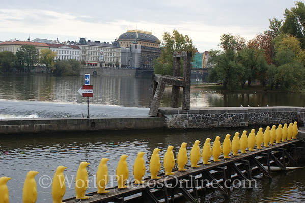 Prague - Vltava River - Art