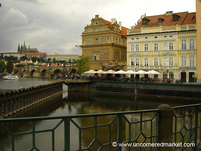Prague Castle from Vltava River - Prague, Czech Republic