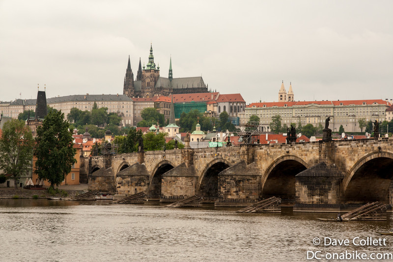 Charles Bridge with the Castle in the background