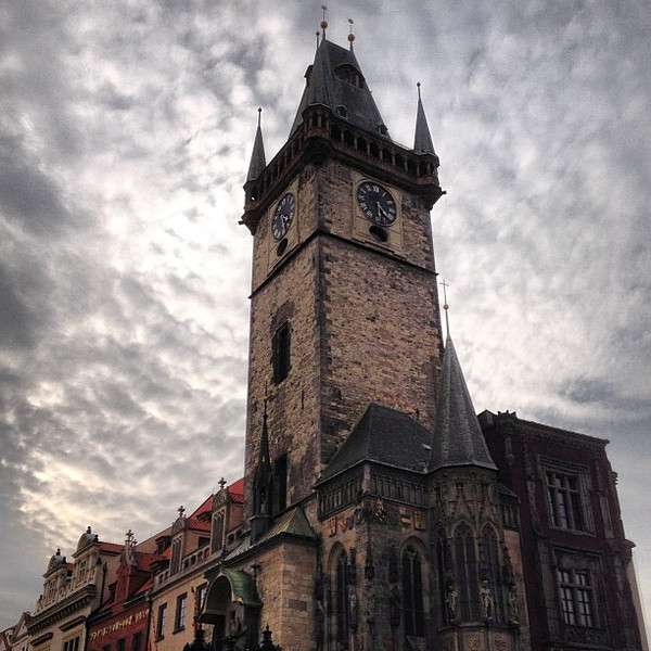 Prague: There's no better place to indulge in the visual splendor of terrible weather. #cloudporn
