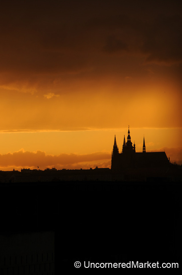 Prague Castle at Dusk - Czech Republic