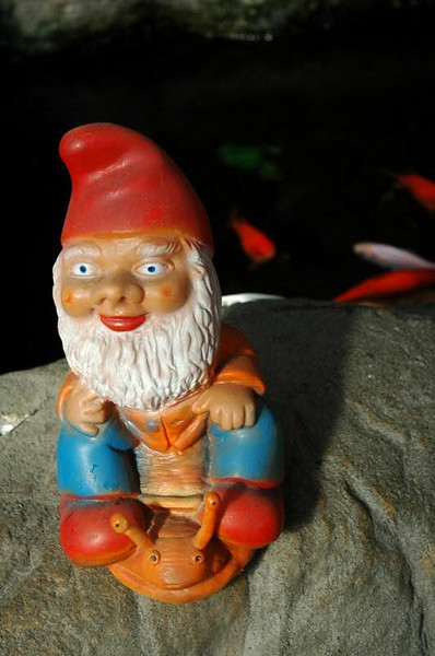 Nail-Riding Gnome - Prague, Czech Republic