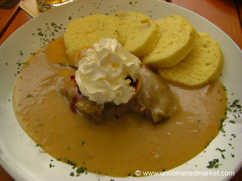 Czech Food, Creamy Svíčková - Prague, Czech Republic