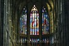 Prague - Prague Castle - St Vitus Cathedral - Stain Glass over Altar