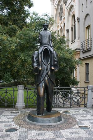 Prague - Jewish Quarter - Kafta Statue