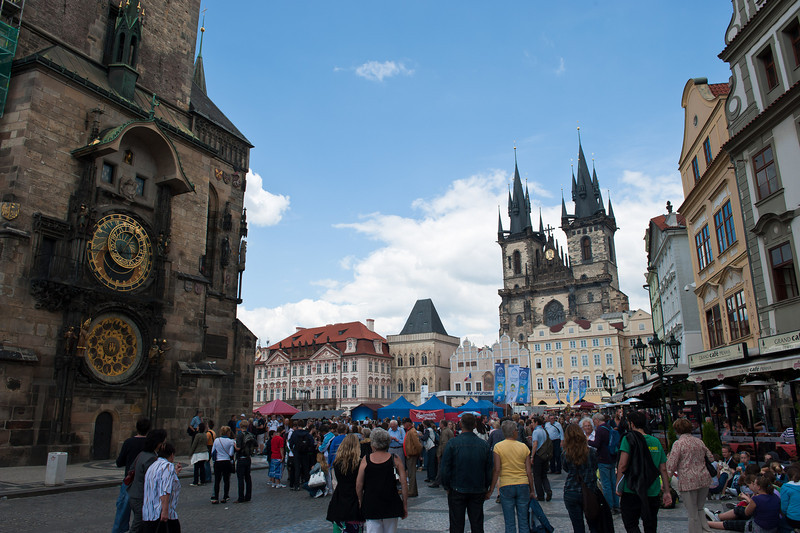 Tyn Church, Astronomical Cock and Old Town Square