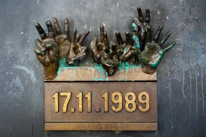 Hands - Memorial to 1989 Velviet Revolution