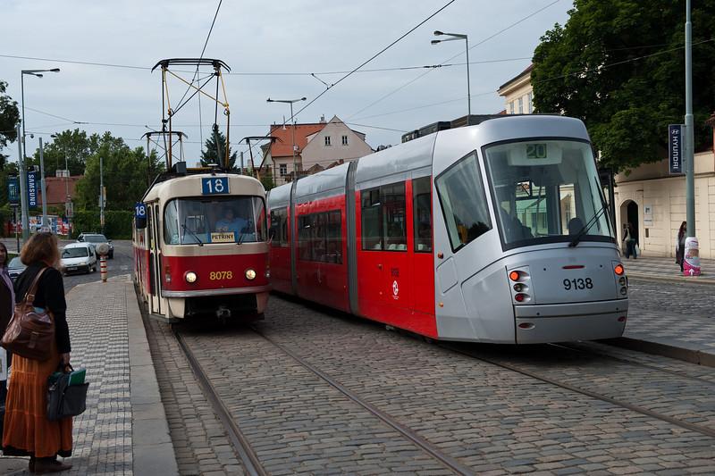 Trams on Castle Hill