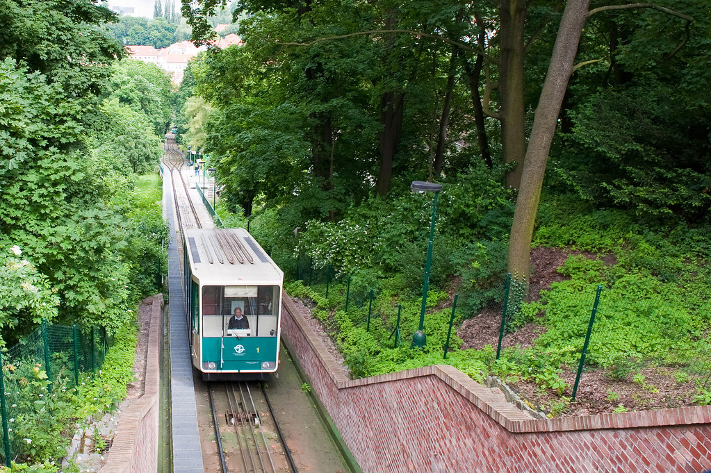 Funicular to Top of Petrin Park