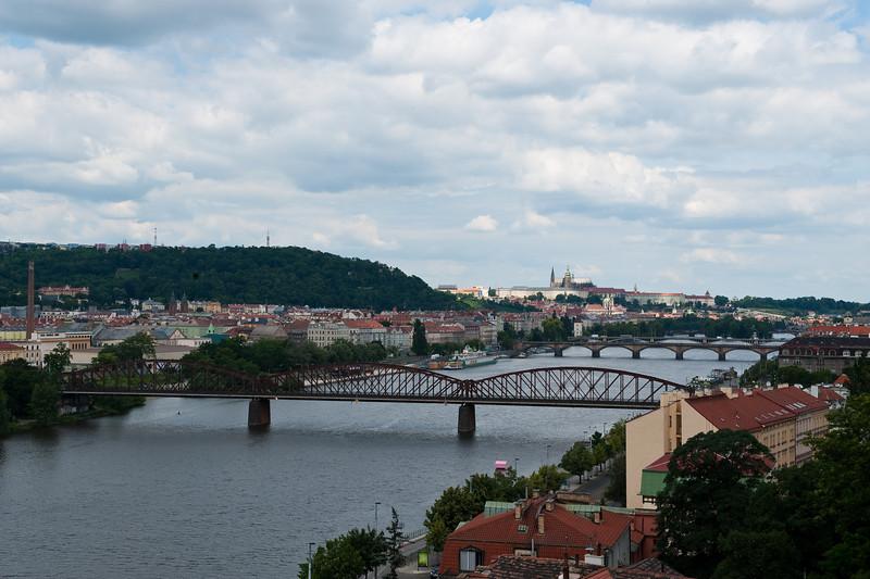 Viltava River from Vysehrad