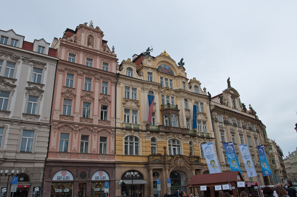Buildings on Old Town Square in Prague