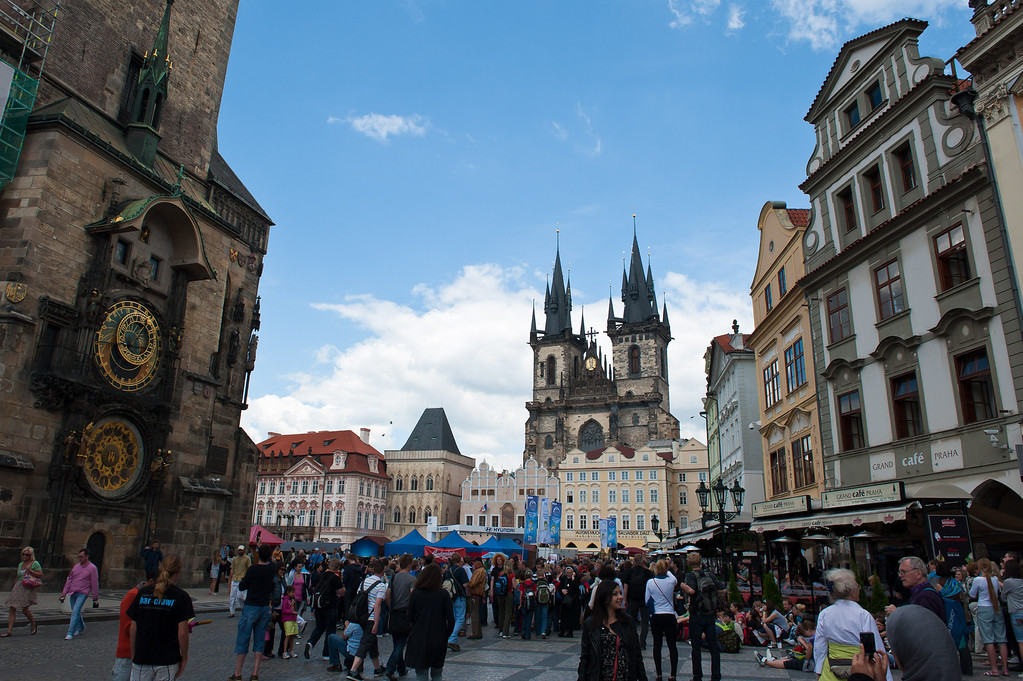 Tyn Church, Astronomical Clock and Old Town Square