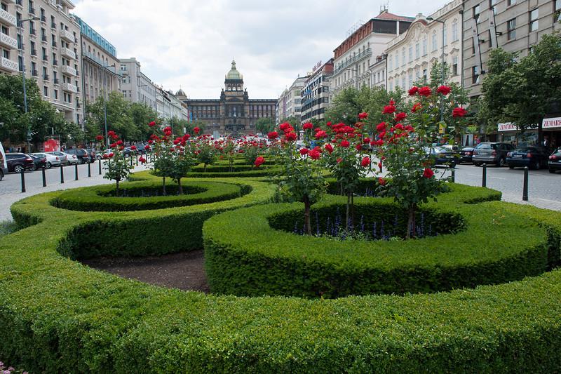 Wenceslas Square Facing the National Museum
