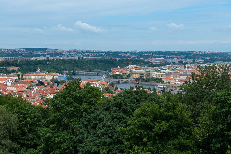 Prague from Petrin Park