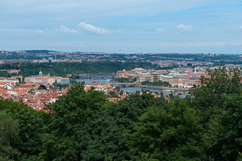 Prague from Petrin Park