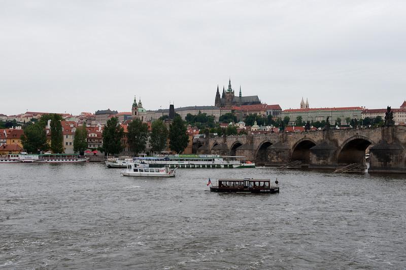 Vltava River and Charles Bridge