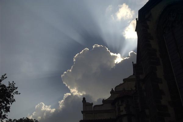 Sun Hiding Behind Clouds - Melnik, Czech Republic
