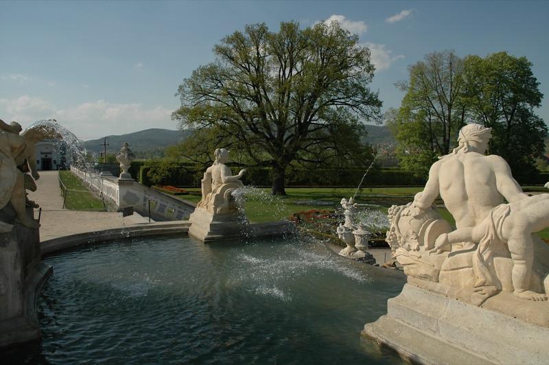 Castle Gardens Fountain - Cesky Krumlov